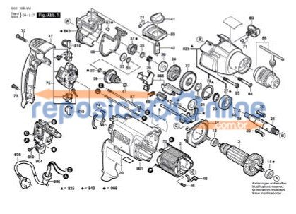 Furadeira de Impacto Bosch GSB 20-2 RE (060119B414)
