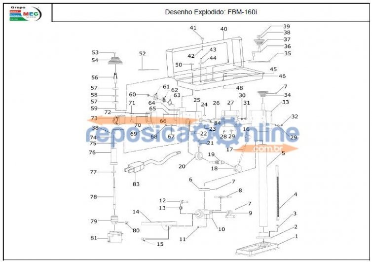 FURADEIRA BANCADA FBM160I MOTOMIL