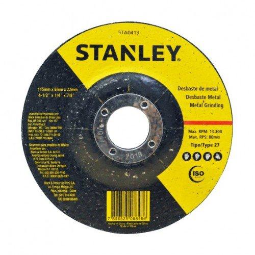 Disco abrasivo para desbaste em metal Stanley - STA0413