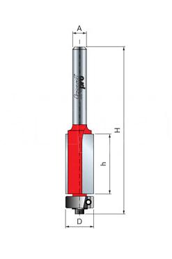 Fresa 6mm Paralela Freud com Rolamento Guia - F03FR01932