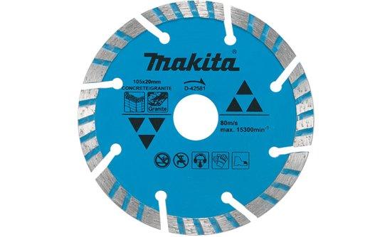 Disco Diamantado Turbo/segmentado Makita 105mm - D-42581