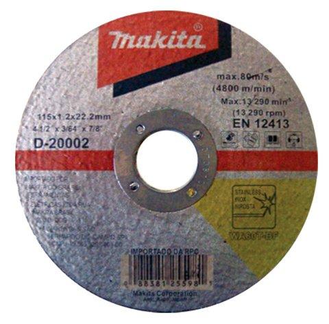 Disco de Corte para Inox Makita 115mm - D-20002-10