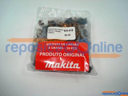 Escova De Carvão Embalagem 50 Peças (25 Jogos) Cb419-50 Makita - Cb419-50