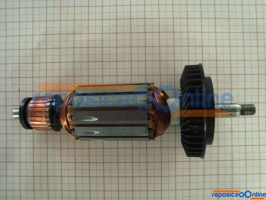 Induzido / Rotor 220V para esmerilhadeira Bosch 1347 GWS 7-115 / 3278.3 PWS 6-115 Codigo Antigo 1604010425 Codigo Atual   - F000600061