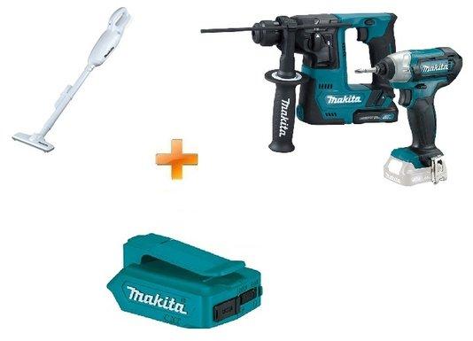 Combo Martelete e Parafusadeira de Impacto + Aspirador + Brinde Adaptador USB Makita
