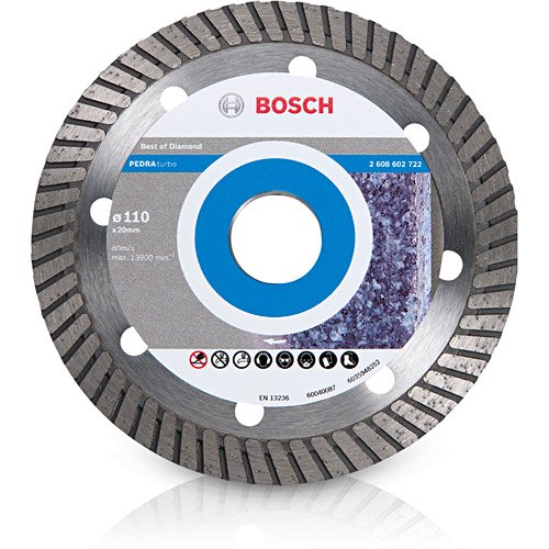 Disco Diamantado Turbo Bosch 110mm para Pedras - 2608602722