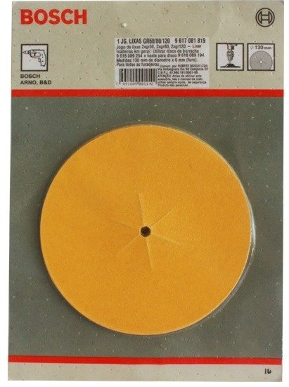 Jogo De Lixas Grana 50/80/120 C/ 6 Unidades Bosch - 9617081819
