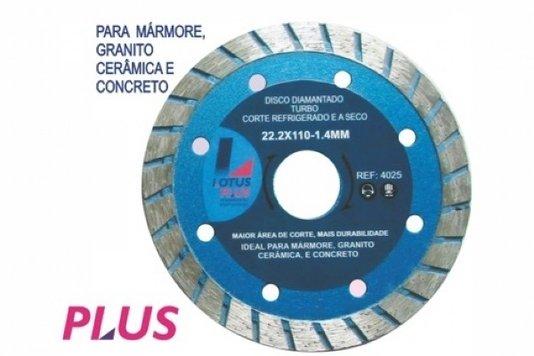 Disco Diamantado Turbo - Corte Refrigerado E A Seco - 4025 - Lotus - 4025