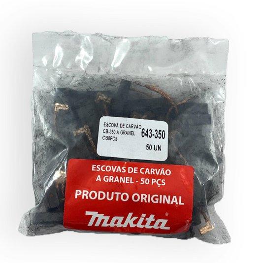 Escova De Carvão Embalagem 50 Peças (25 Jogos) - Cb350 -50 - Makita - Cb350-50