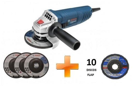 Esmerilhadeira GWS 850 Bosch com Brinde 10 Discos Flap e 3 Desbaste