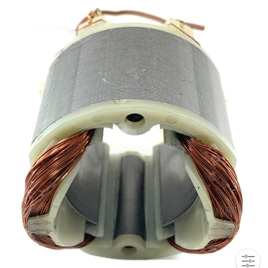 Estator 220v Para Parafusadeira Elétrica Pe-735 Supertork / Pe735400/1 / Pe735400b - Pe735400b