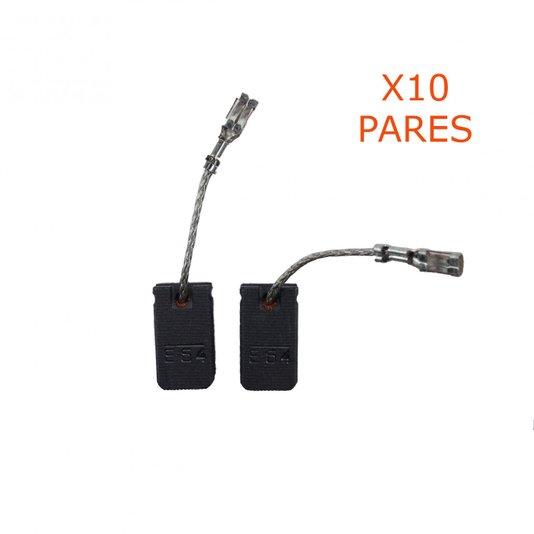 Kit 10 Pares De Escova De Carvão 1607000V37 Bosch