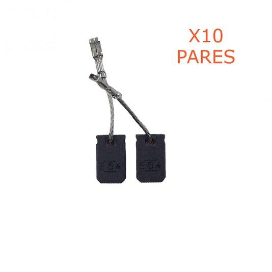 Kit 10 Pares De Escova De Carvão 1607000V53 BOSCH