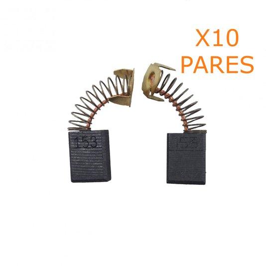 Kit 10 Pares De Escova De Carvão CB153 Makita