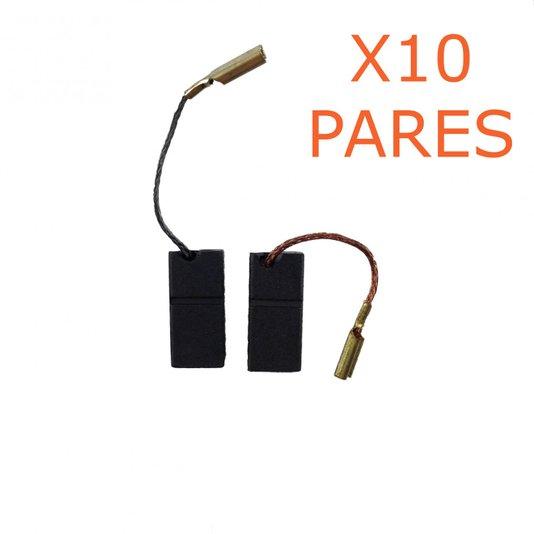 Kit 10 Pares De Escova De Carvão F000611029 Bosch