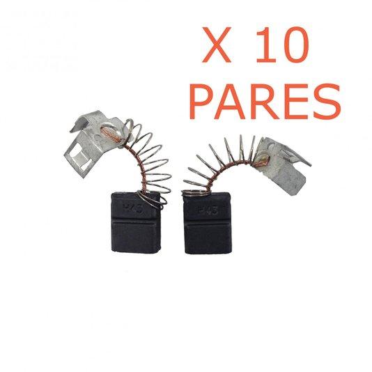 Jogo 10 PARES DE ESCOVA DE CARVÃO F000611036 BOSCH