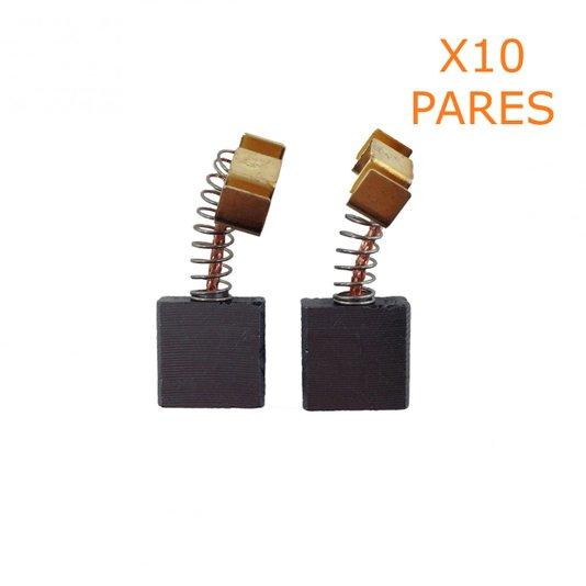 Kit 10 Pares De Escova De Carvão F000611088 Skil