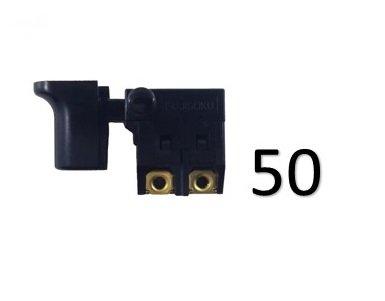 Kit 50 Unidades Interruptor 110v/220v Para Serra Mármore Makita - 651204-3