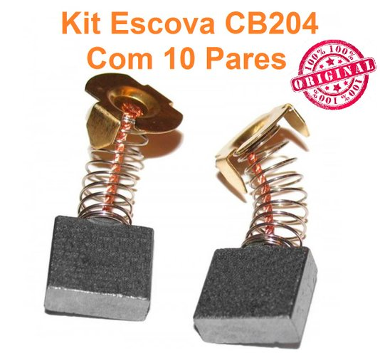 KIT Escova de carvao CB204 ORIGINAL MAKITA - KIT C/10 PARES
