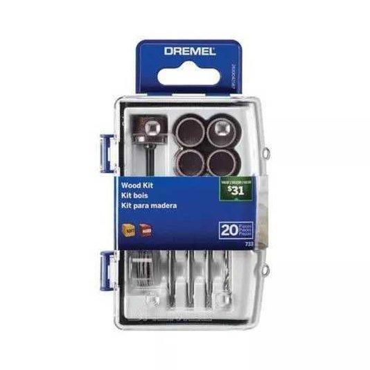 Kit Para Madera Com 20 Acessórios Dremel - 26150733ab