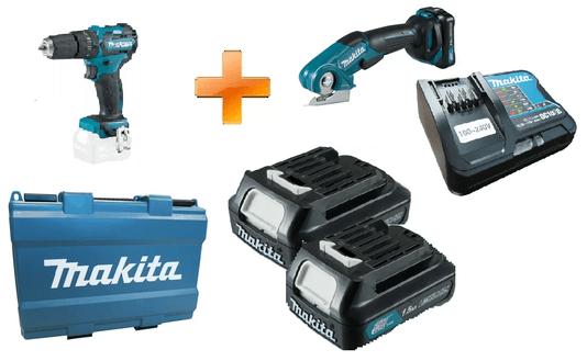 Kit Parafusadeira + Multicortadora + Baterias
