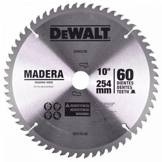 "Disco De Serra Para Madeira 10"" Dwa03120 Dewalt - Dwa03120"