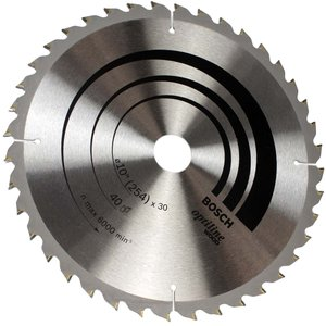 Disco De Serra Circular 254mm Bosch 40 Dentes - 2608640907