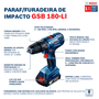 Combo Furad. Gsb / Chave Imp. Gdx 180-li - 06019g52e2 - Bosch  - 06019g52e2